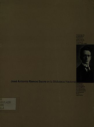 José Antonio Ramos Sucre en la Biblioteca Nacional