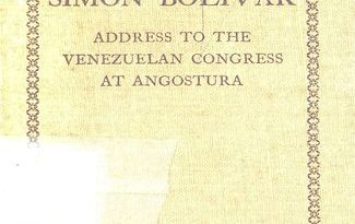 Address to the Venezuelan Congress at Angostura, February 15, 1819