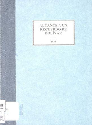 Alcance a un recuerdo de Bolívar.