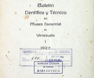 Boletín científico y técnico del Museo Comercial de Venezuela.